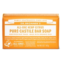Dr. Bronner's Pure-Castile Bar Soap - Citrus 140g
