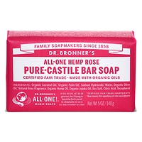 Dr. Bronner's Pure-Castile Bar Soap - Rose Hemp140g