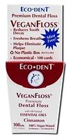 Eco-Dent VeganFloss Waxed Dental Floss Cinnamon 100 yds / 91 m