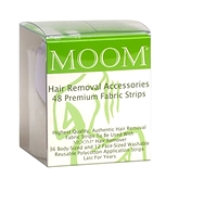 MOOM Hair Removal Accessories - 48 Premium Reusable Fabric Strips