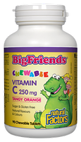 Natural Factors Big Friends Vitamin C 250mg 90 chewable tablets Tangy Orange Flavour
