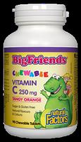 Natural Factors Big Friends Vitamin C 250mg 90 chewable tablets Tangy Orange Flavour