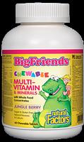 Natural Factors Big Friends Multi-Vitamin & MInerals 60 Chewable Tablets Jungle Berry Flavour