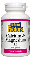 Natural Factors Calcium & Magnesium 2:1 with Vitamin D3
