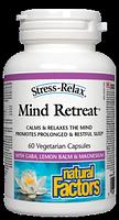 Natural Factors Stress-Relax Mind Retreat 60 vegetarian capsules