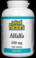 Natural Factors Alfalfa Organic 650mg 500 tablets