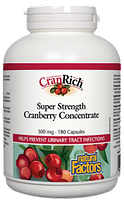 Natural Factors CranRich Cranberry Concentrate Super Strength 500 mg