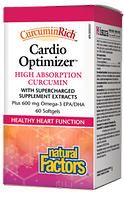 Natural Factors CurcuminRich Cardio Optimizer 60 Softgels