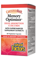 Natural Factors CurcuminRich Memory Optimizer 60 Vegetarian Capsules