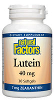 Natural Factors Lutein 40mg with Zeaxanthin 7mg
