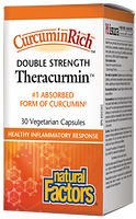 Natural Factors CurcuminRich Theracurmin Double Strength 60mg 60 Vegetarian Capsules