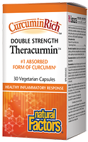 Natural Factors CurcuminRich Theracurmin Double Strength 60mg 30 Vegetarian Capsules