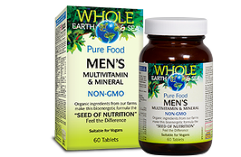 Natural Factors Whole Earth & Sea Men's Multivitamin & Mineral 60 Tablets