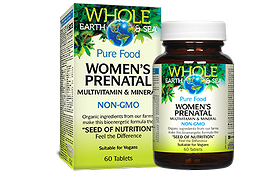 Natural Factors Whole Earth & Sea Women's Prenatal Multivitamin & Mineral 60 Tablets