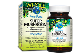 Natural Factors Whole Earth & Sea Super Mushroom Blend Organic 60 Vegetarian Capsules