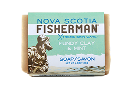 Nova Scotia Fisherman Soap Bar Fundy Clay & Mint 136g