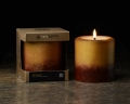 "Rare Earth Naturals Mineral-Coloured Pillar Candle w Essential Oils 3"" x 3"" - Choice of Scent"