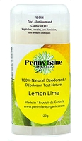 Penny Lane Organics 100% Natural Deodorant Lemon Lime 120g
