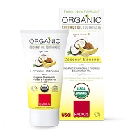 Radius Organic Coconut Oil Toothpaste Kids Coconut Banana 48 g
