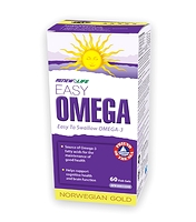 Renew Life Norwegian Gold Easy Omega 60 Fish Gels