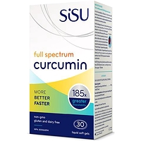 Sisu Full Spectrum Curcumin 30 Liquid Soft Gels