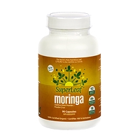 SuperLeaf Moringa Oleifera Raw Powder 400mg 90 Capsules