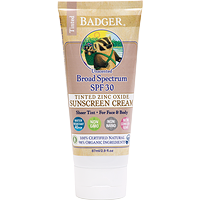 Badger Tinted Active Sunscreen Cream SPF 30 Sheer Tint 87 ml