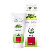 Radius Organic Coconut Oil Toothpaste Mint Aloe Neem 85 g