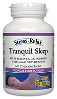 Natural Factors Stress-Relax Tranquil Sleep 10 chewable tablets