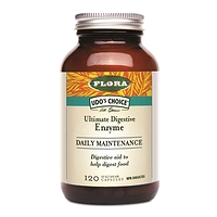 Udo's Choice Ultimate Digestive Enzyme DAILY MAINTENANCE 120 Vegetarian Capsules