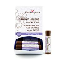 Wedderspoon Organic Lip Care Enriched with Manuka Honey - Lavender Lemon 4.5g
