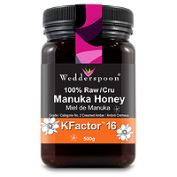 Wedderspoon Manuka Honey KFactor 16 100% Raw 500g