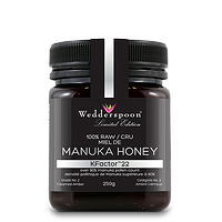 Wedderspoon Manuka Honey KFactor 22 100% Raw 250g