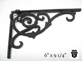 Équerre décorative noir en fonte  w6259-n     (450)