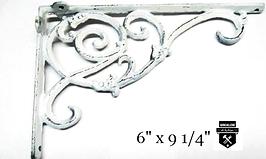 Équerre décorative blanc antique en fonte  v6259-ba    (450)