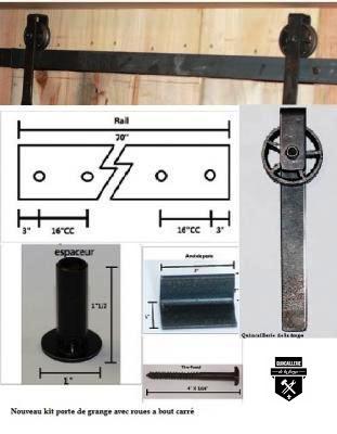 Quincaillerie de porte de grange quincaillerie de la forge achetez en - Quincaillerie pour porte de grange coulissante ...