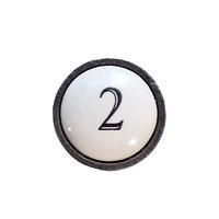 bouton fonte et céramique   b5815m2