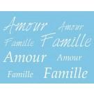 Pochoir amour et famille st038