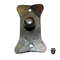 Petit bouton forgé sur plaque f9