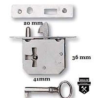 Serrure de coffre rustique 2094-003