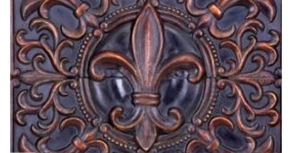Quincaillerie ancienne au motif fleur de lys - Quincaillerie ancienne meuble ...