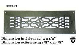 grille de plancher  en fonte  g12X21/4   (1600)