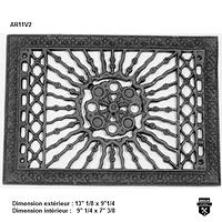 Grille de plancher antique en fonte ar11v2   (3025)
