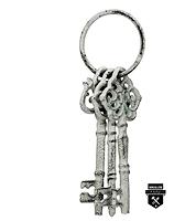 Ensemble rustique de clés décoratives crème s3484 (350)