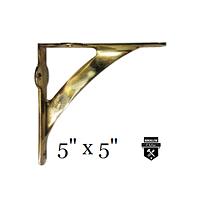 Équerre  en fonte classique  laiton  a98pl (975)
