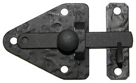 Loquet fer martelé noir den14