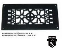 Grille de plancher ancienne(12 x 6)   a104f  (1949)