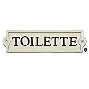 """Plaque en fonte toilette blanc et noir 9""""   27-154    (450)"""