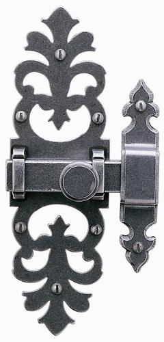 Loquet /targette noir style médiéval 4415-1305-020