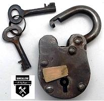 Petit cadenas de coffre antique da1121m (975)